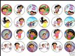 24 x Dora 1.6'' rice paper cake toppers tops great size
